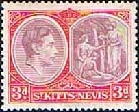 1938 St Kitts - Nevis King George VI  SG 73 Fine Mint