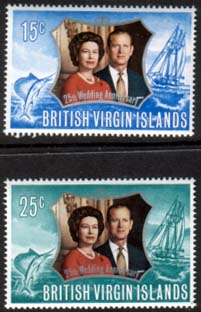 1972 British Virgin Islands Royal Silver Wedding