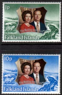 1972 Falkland Islands Royal Silver Wedding Stamps