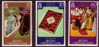 Stamps 1977 British Virgin Islands Royal Silver Jubilee Set Fine Mint