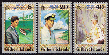Postage Stamps 1977 Gilbert Islands Royal Silver Jubilee Set Fine Mint