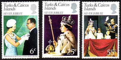 1977 Turks and Caicos Islands Royal Silver Jubilee Set Fine Mint