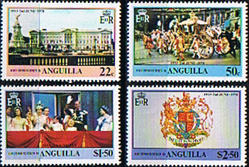 Stamps of 1978 Anguilla Coronation 25th Anniversary Set Fine Mint