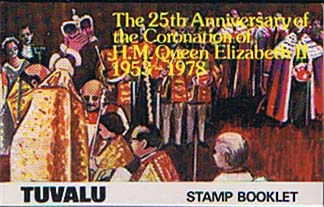 Postage Stamps 1978 Tuvalu Coronation 25th Anniversary Booklet Fine Mint SG 89 92 Scott 81 4 Cathederals