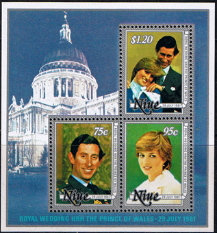 Niue Stamps Charles and Diana Royal Wedding