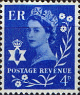 British Stamps Northern Ireland 1958 Queen Elizabeth SG Scott 2p Fine Used