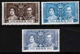 Aden 1937 King George VI Coronation Stamps