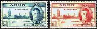 Aden 1946 King George VI Victory Set Fine Mint