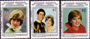 Stamps 1982 Aitutaki Royal Baby Prince William Set Fine Mint