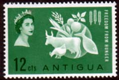 Stamps Antigua 1963 Freedom From Hunger Fine Mint