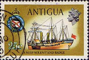 Antigua 1970 Ships and Captains SG 279 Solent I Paddle Steamer Fine Used