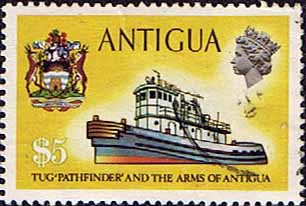 Antigua 1970 Ships and Captains SG 285 Pathfinder Tug Fine Used
