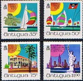 Postage Stamps Antigua 1972 Sailing Week Set Fine Mint