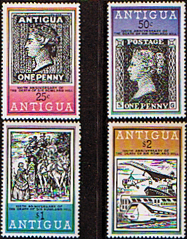 Postage Stamps Antigua 1979 Rowland Hill Set Fine Mint