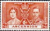 Ascension 1937 George VI Coronation SG 36 Fine Mint