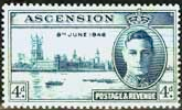Ascension 1946 King George VI Victory SG 49 Fine Mint
