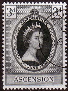 Postage Stamps Ascension Islands Queen Elizabeth II 1953 Coronation Fine Used  SG 56 Scott 61
