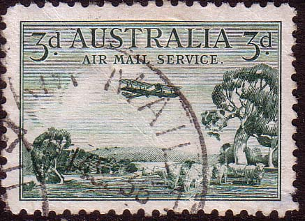 Australian Airmail Stamps Australia 1929 Air Mail Plane SG 115 Fine Used Scott C1