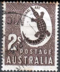 Stamps of Australia 1948 SG 224 Aborigional Art Fine Used
