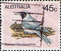 Stamps Australia 1980 Masked Wood Swallow Fine Used SG 737 Scott 736