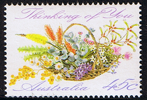 Flower Shop on Greetings Basket Of Wild Flowers Stamp Fine Mint Sg 1318 Scott 1234
