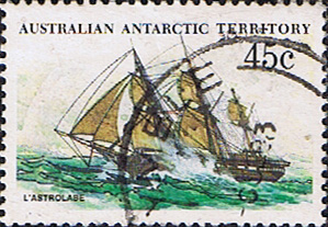 Stamps Australian Antarctic Territory 1979 Ships SG 49 L'Astrolabe Fine Used Scott L49