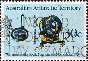 Stamps Australian Antarctic Territory 1984 Magnetic Pole Expedition SG 61 Fine Used SG Scott L57