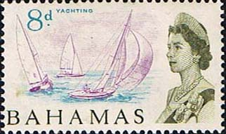 Postage Stamps of Bahamas 1965 SG 254 Yachting Fine Mint Scott 211