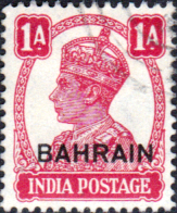 Bahrain 1942 George VI Head India Overprint Fine Used SG 41 Scott 41