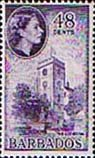 Barbados 1953 QE II SG 298 The Cathedral Fine Mint