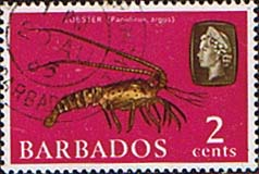 Stamps of Barbados 1965 QE II SG 343 Marine Life Lobster Fine Used