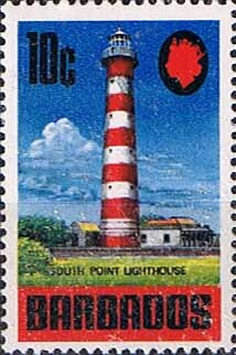 Postage Stamps Barbados 1970 SG 406a South point Lighthouse Fine Mint Scott 335