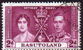 Postage Stamp Stamps Basutoland 1937 SG 16 King George VI Coronation Fine Mint SG 16 Scott 16