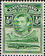 Stamp Stamps Basutoland 1938 SG 18 King George VI and Crocodile Fine Mint