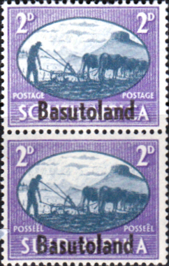 African Stamps Basutoland 1946 King George VI Victory SG 30 Fine Mint Scott