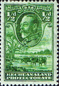Stamps Bechuanaland 1932 King George V Baobab Tree Fine Mint Sg 99 Scott 105