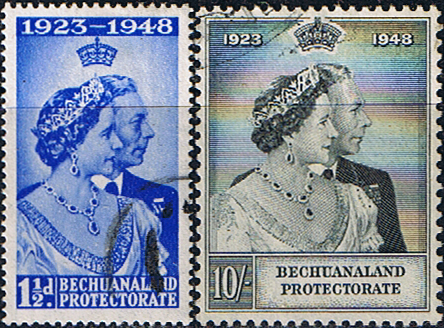 Stamps Bechuanaland 1948 King George VI Royal Silver Wedding Set Fine Mint