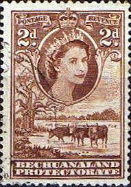 Bechuanaland 1955 Queen Elizabeth II Baobab Tree SG 145 Fine Used Scott 156 Stamp