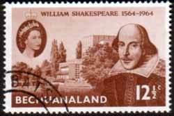 Bechuanaland 1964 William Shakespeare Stamps