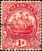 Bermuda 1910 King George V Galleon SG 46 Fine Used