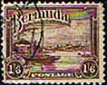 Bermuda 1936 King George V SG 106 Red Hole Paget Fine Used