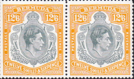 Bermuda 1938 King George VI SG 120e Horizontal Pair Fine Mint