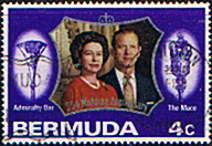 Bermuda 1972 SG 291 Royal Silver Wedding Fine Used