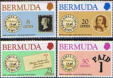 Postage Stamps Stamp Bermuda 1979 Sir Rowland Hill Set Fine Mint