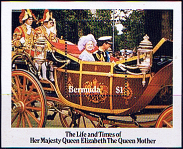 Stamps Bermuda Queen Mother Life and Times Miniature Sheet Fine Mint SG MS 498 Scott 472a