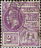 Postage Stamps British Guiana 1921 George V Head and Ship SG 274 Fine Used                    SG 274 Scott 193