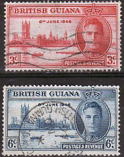 Postage Stamps British Guiana 1946 King George VI Victory