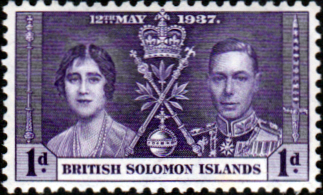 British Solomon Islands 1937 King George VI Coronation SG 57 Fine Mint