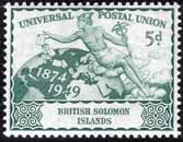 Stamps Solomon Island 1948 King George VI Silver Wedding SG 75 Fine Mint Scott 82