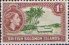 British Solomon Islands 1963 SG 103 Roviana Canoe Fine Mint